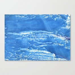Corn flower blue abstract watercolor painting Canvas Print