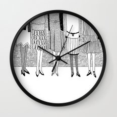 the sunny side of the street Wall Clock
