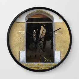 A Hole in the Ceiling Wall Clock