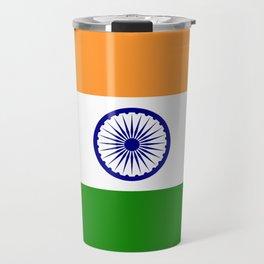 India: Indian Flag Travel Mug
