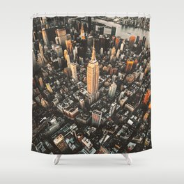 new york city aerial view Shower Curtain