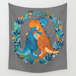 Dino Hugs Wall Tapestry