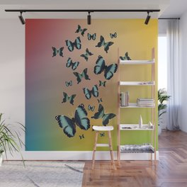 Cluster of Butterflies - Fly Away Home - 57 Montgomery Ave Wall Mural