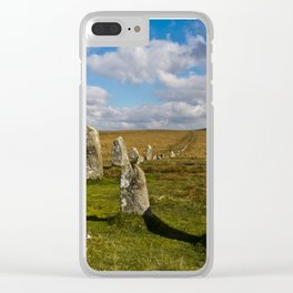 Dartmoor Stone Row Clear iPhone Case