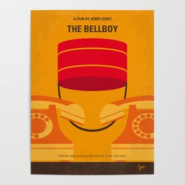 No977 My The bellboy minimal movie poster Poster
