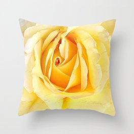 Yellow Rose Song Throw Pillow