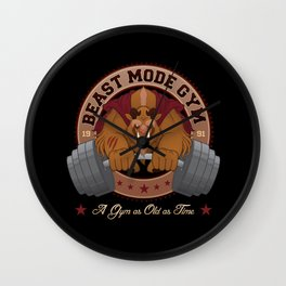 Beast Mode Gym Wall Clock