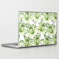 succulents Laptop & iPad Skins featuring Succulents by Julia Badeeva