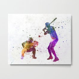 baseball players 01 Metal Print