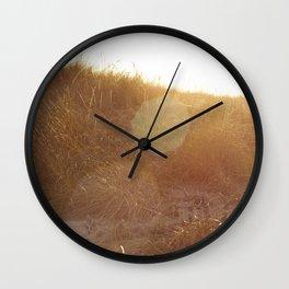 Montauk Sand Dune Sunflare Wall Clock
