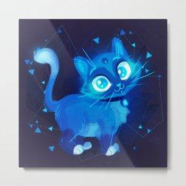 Sapphire Kitty Metal Print