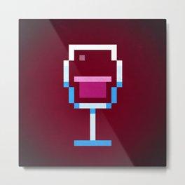 Pixel Wine Metal Print