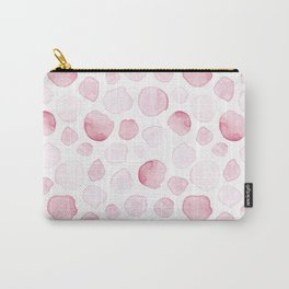 Seamless pattern with pink stones, dots, circles Carry-All Pouch