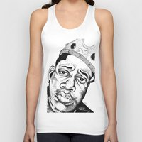 biggie smalls Tank Tops featuring Biggie Smalls Stippling by Tom Brodie-Browne