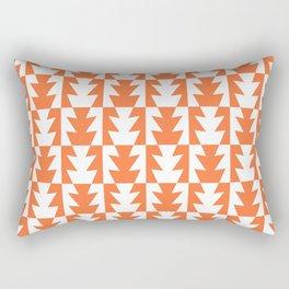 Art Deco Jagged Edge Pattern Orange Rectangular Pillow