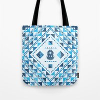diver Tote Bags featuring Diver by parallelish