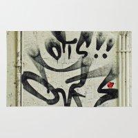 ladybug Area & Throw Rugs featuring Ladybug  by Ethna Gillespie