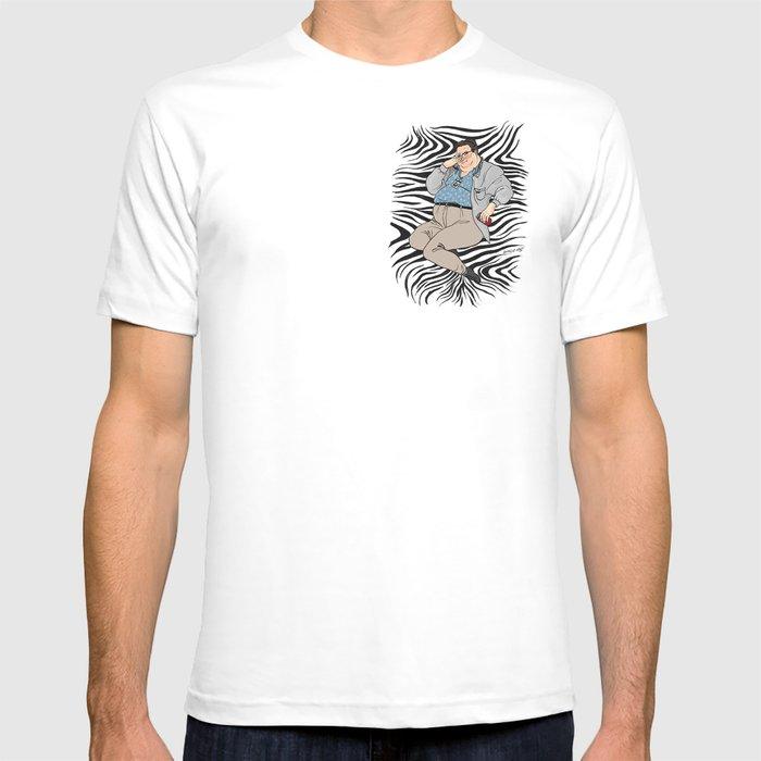 295c3c193bc9f Jurassic Park Pin-ups ~ Dennis Nedry T-shirt by emmamunger