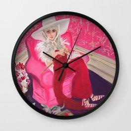 """miu miu, tuesday around 4 ish"" Wall Clock"