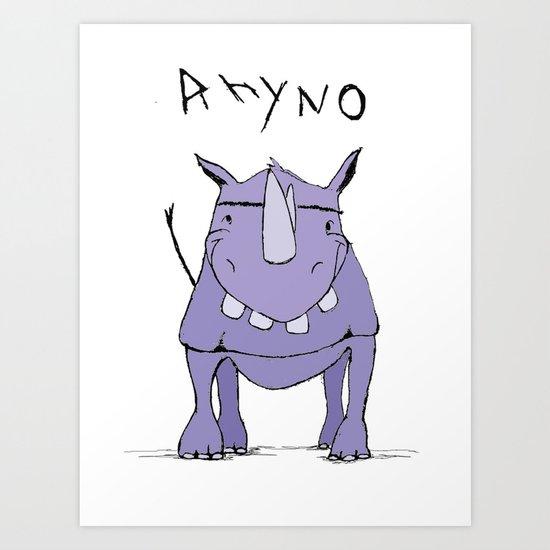 Rhyno Art Print