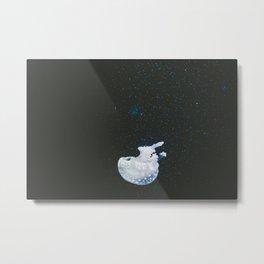 Sinking Jellyfish Metal Print
