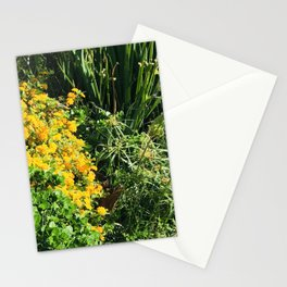 Yellow Flowers Nestled in Blades of Lush Grass Stationery Cards