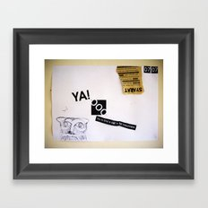 Draw your days : day#6 Find a Sad Framed Art Print