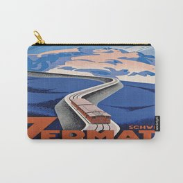 Vintage poster - Zermatt Carry-All Pouch