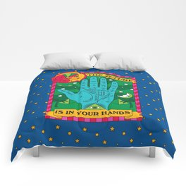 The Future is In Your Hands Comforters