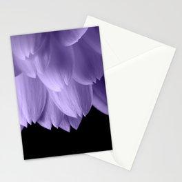 Ultra violet purple flower petals black Stationery Cards