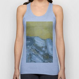 Marble Agate Slices Crystal Geode Abstract Boho Gold and Grey Unisex Tank Top