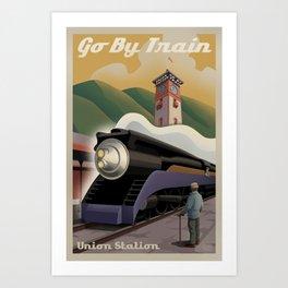 Vintage Union Station Train Poster Art Print