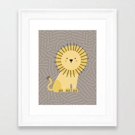 Nicco the lion Framed Art Print