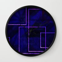 frames Wall Clocks featuring Frames #23 by Rabassa