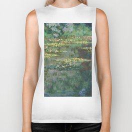 Water Lilies 1904 by Claude Monet Biker Tank