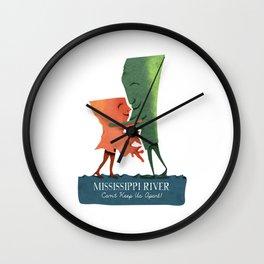 Louisiana Woman, Mississippi Man Wall Clock