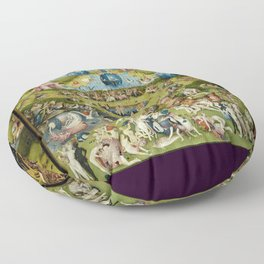 Hieronymus Bosch The Garden Of Earthly Delights Floor Pillow