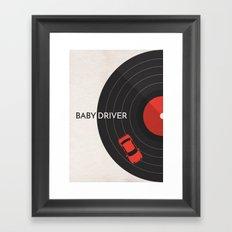 Baby Driver Minimalist Poster Framed Art Print