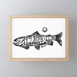 """The 'Kill"" Fly Fishing Art Framed Mini Art Print"