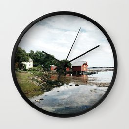 few cabin in the distance Wall Clock