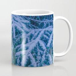 Snow-covered spruce branch Coffee Mug
