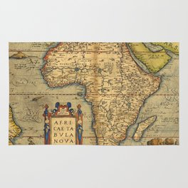 Old map of Africa Rug