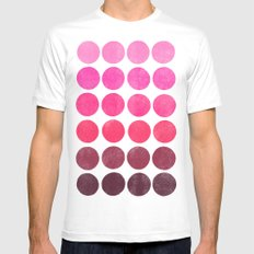 Color Play Pink Mens Fitted Tee MEDIUM White