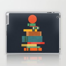 Book stack with a ball Laptop & iPad Skin