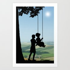 Childhood Dreams, Push Me Art Print