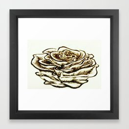 Dramatic Rose Framed Art Print