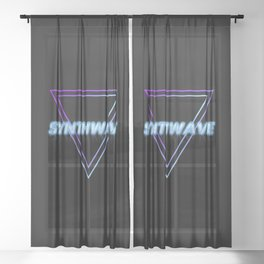 Synthwave Aesthetic Sheer Curtain