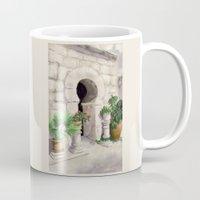 arab Mugs featuring Arab Baths Palma de Mallorca DP151029b-14 by CSteenArt