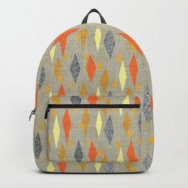 Danish Diamond in Orange Multi Backpack