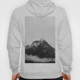 Snow Capped Mountains Fog (Black and White) Hoody